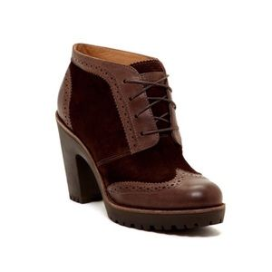 Sperry Top Sider Emory Wingtip Leather Booties